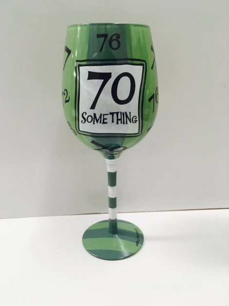 70th Wine Glass - Unisex