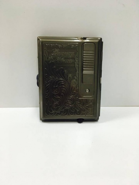 Cigarette Case with Lighter - Charcoal