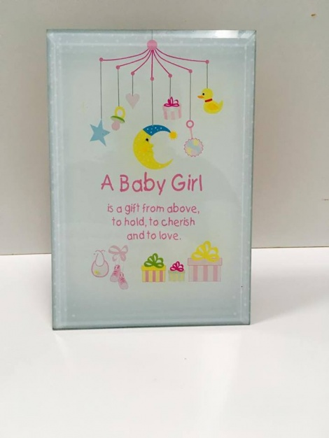 Glass Plaque - Baby Girl 2