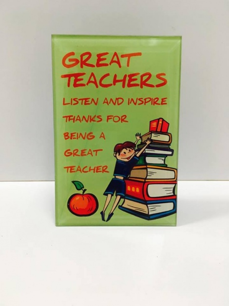 Glass Plaque - Teacher
