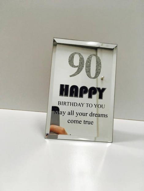 90th Mirror Plaque
