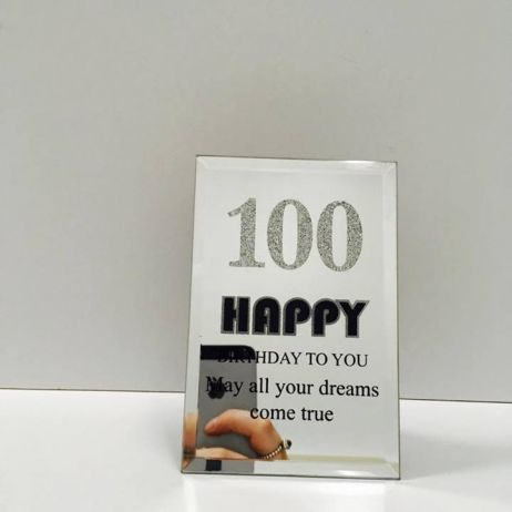 100th Mirror Plaque