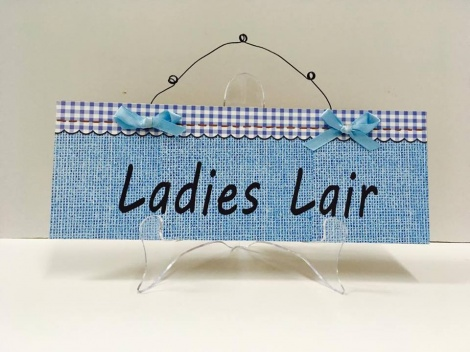 Lady Cave Sign - Blue