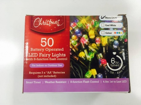 Christmas Lights - 50 Piece Battery Operated
