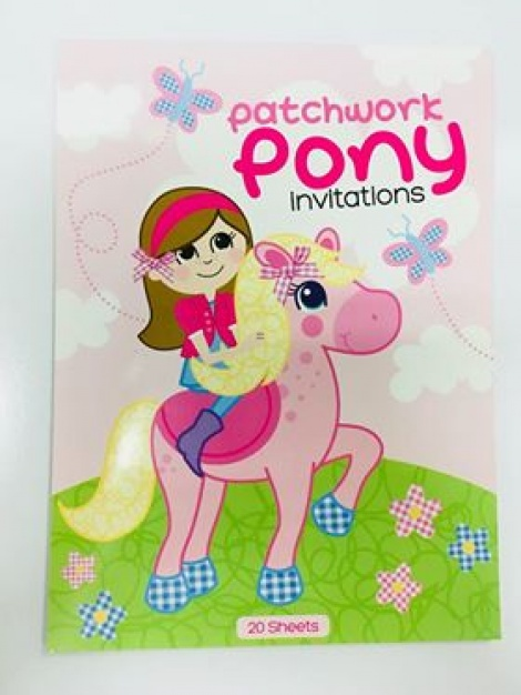 Party Invitations - Patchwork Pony