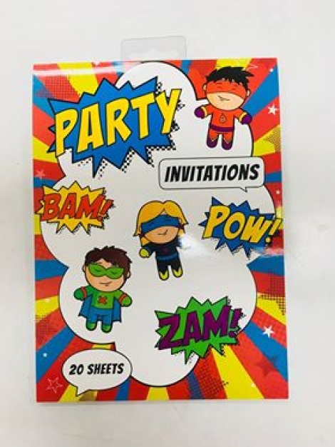 Party Invitations - Superheroes