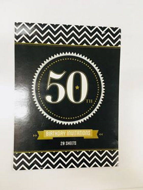Party Invitations - 50th