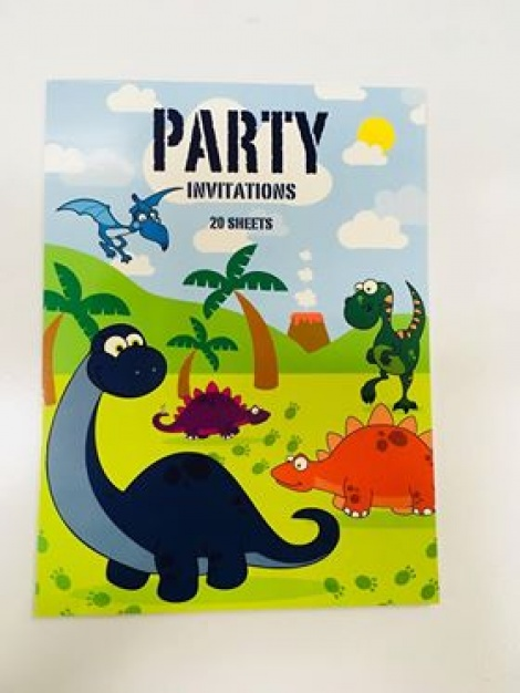 Party Invitations - Dinosaurs