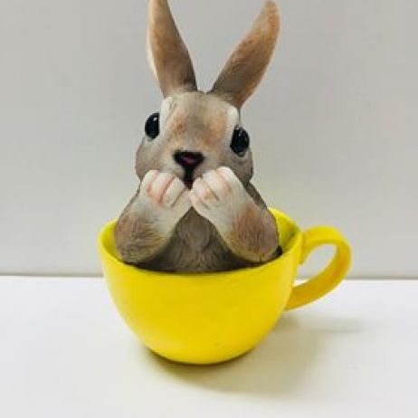 Bunny in a Cup - Yellow