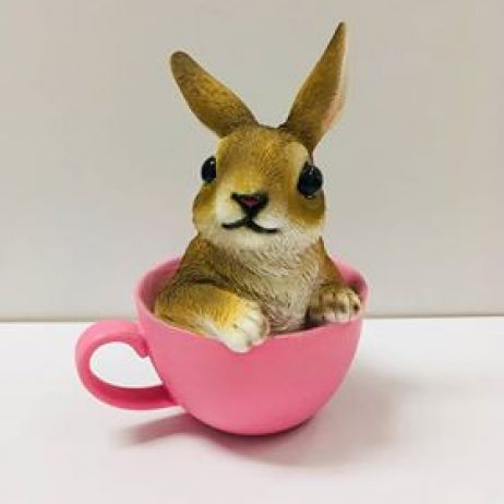 Bunny in a Cup - Pink
