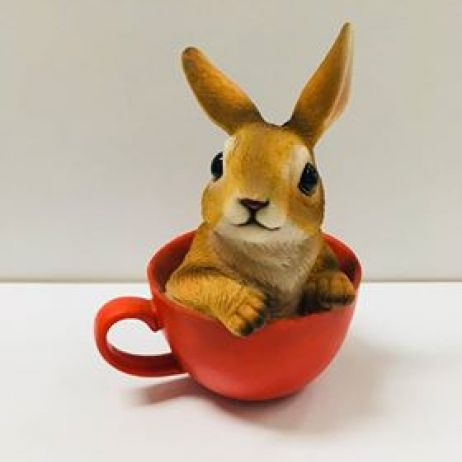 Bunny in a Cup - Red