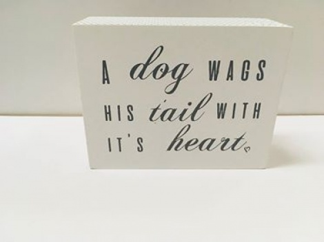 Plaque - Dog, Tail & Heart