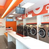 Orange laundromat