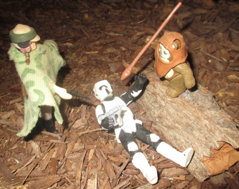 Look out, its Wicket the Ewok saving the day