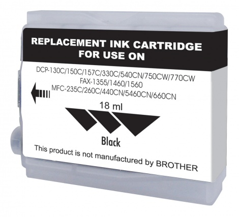 Brother Compatible LC37 / 57 BLACK ( JCB748 )