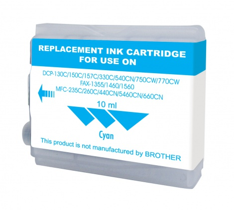 Brother Compatible LC37 / 57 Cyan ( JCB749 )
