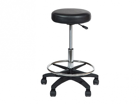 Castle Round Stool - Black