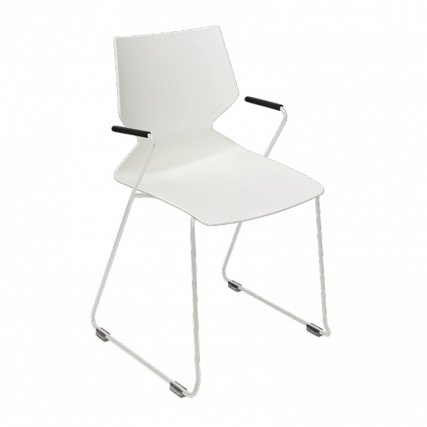 KONFURB Fly Sled Chair with arms