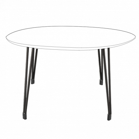 BURO Fly Table Frame 900mm