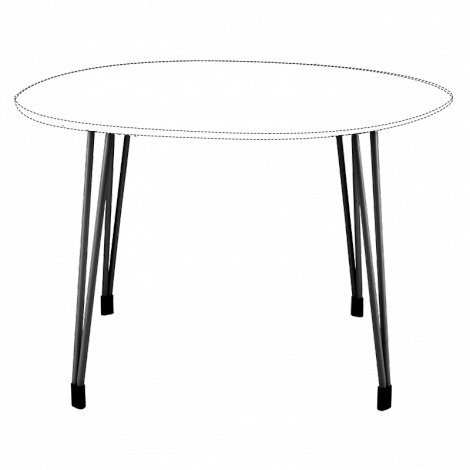 BURO Fly Table Frame 1200mm