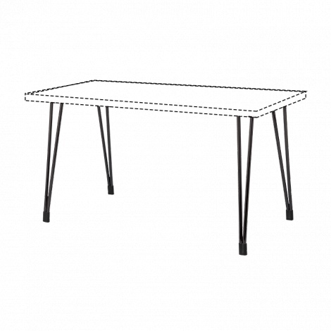 BURO Fly Table Frame 1400mm