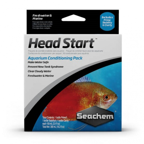 Seachem Headstart Water Conditioning Pack