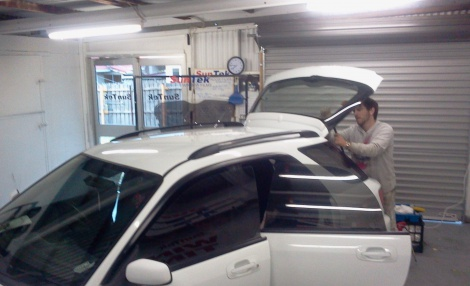 The car tinting process