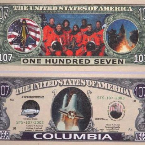 Space Shuttle Columbia Banknote