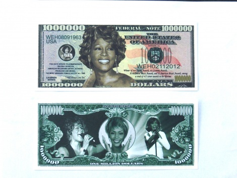 Whitney Houston Million Dollar Note