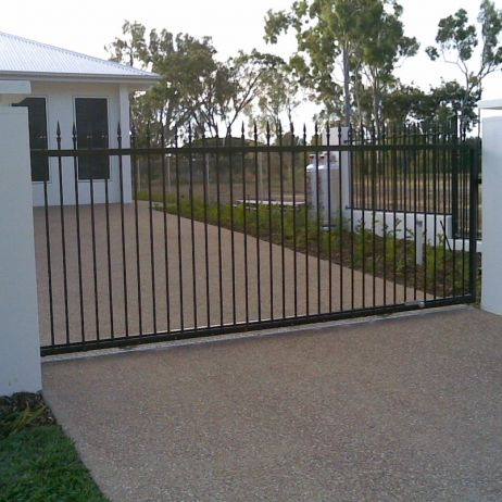 Aluminium Powder Coated Sliding Gate