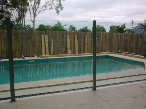 Semi Frameless Glass Fence