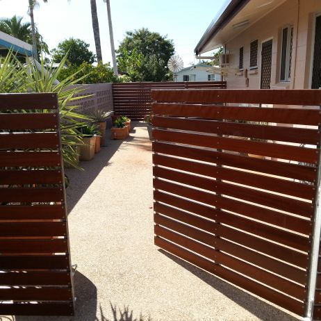Horizontal Hardwood Gates
