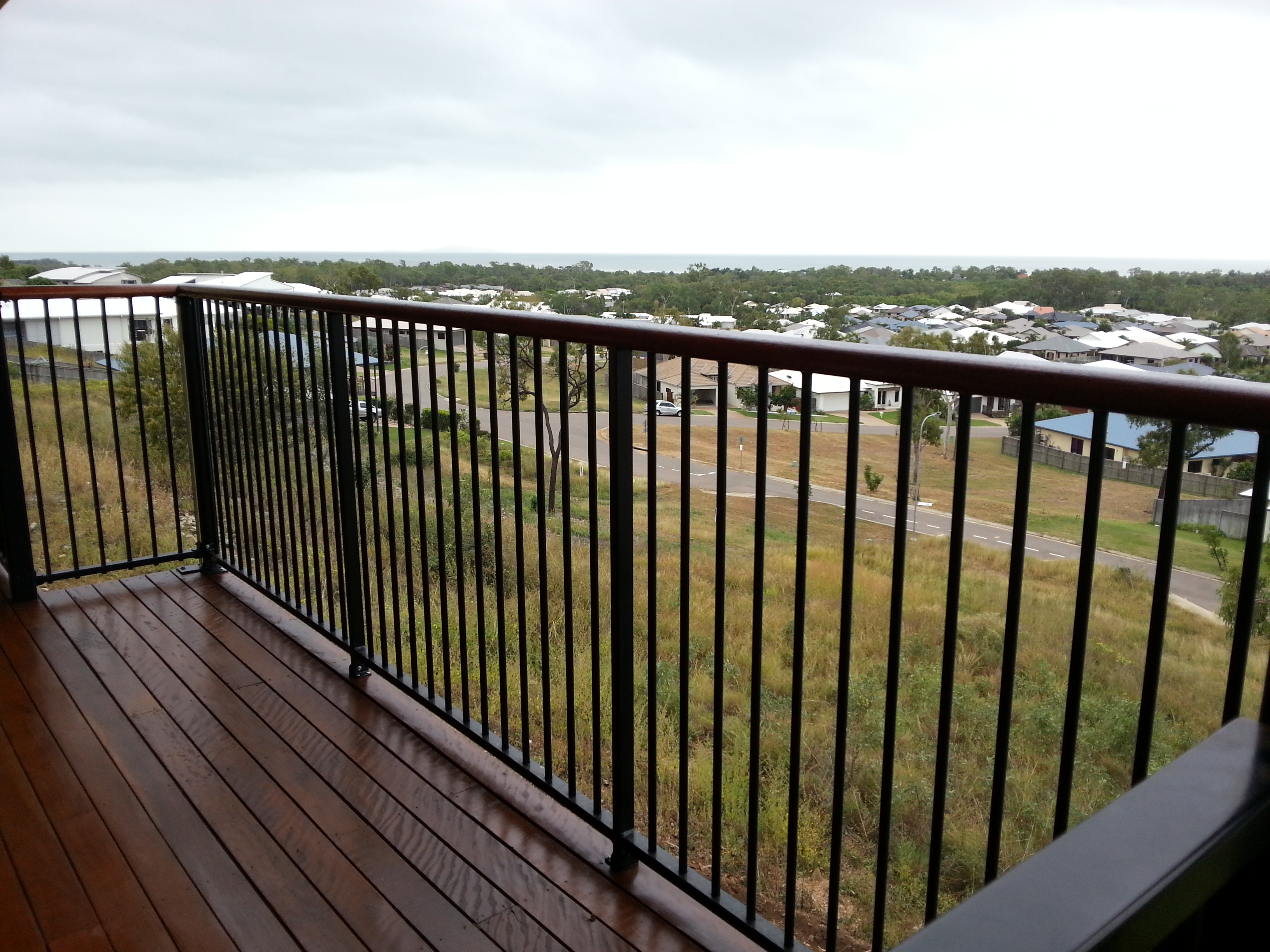 powder coated aluminium balustrade carl 39 s fencing. Black Bedroom Furniture Sets. Home Design Ideas