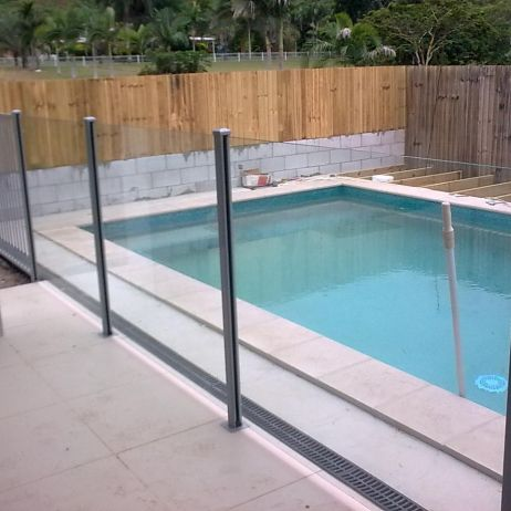 Semi Framless Glass Fencing