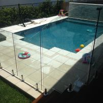 Frameless Glass with Angled Panels