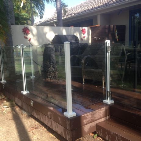 Semi Frameless Glass Fencing