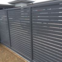 Horizontal Slatted Sliding Gate