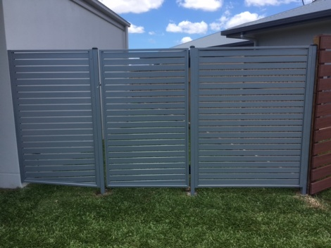 Horizontal Slatted Gate and side Panels