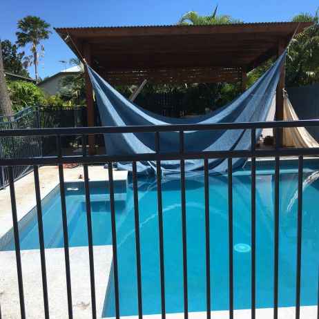Double Top Pool Fencing