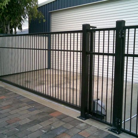 Sliding Powder coated Aluminium Gate with Electric motor
