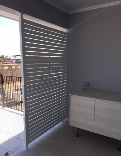 Powder coated Slatted Aluminium Privacy Panel