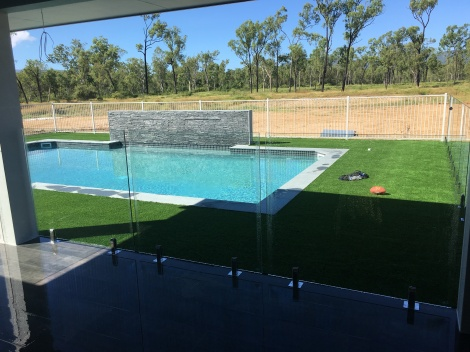 Core drilled Frameless Glass
