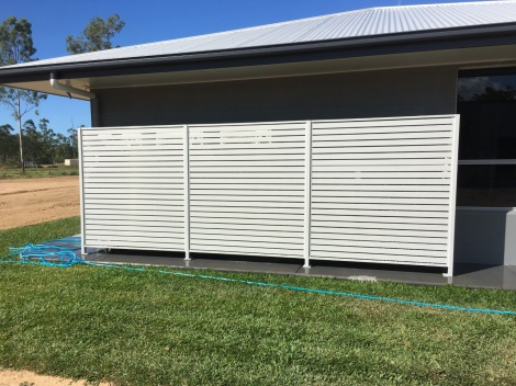Slatted Aluminium Air conditioner screen