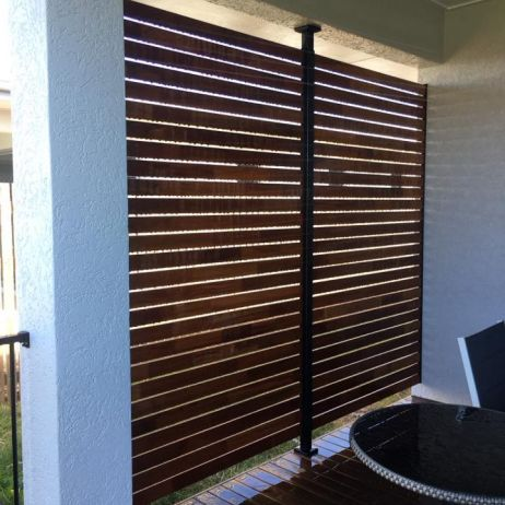 Horizontal Hardwood decorative privacy screen