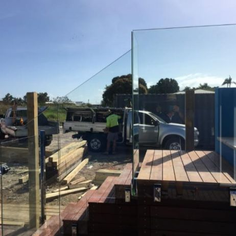12mm thick toughened Australian certified Frameless Glass Panels with 316 Grade Stainless steel deck