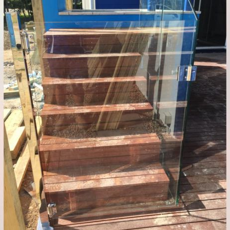 12mm thick toughened Australian certified Frameless Glass Gate