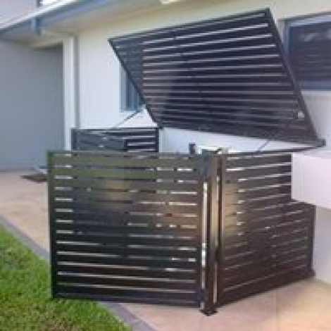 Slatted horizontal welded aluminium filter housing