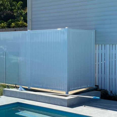Vertical slatted Privacy screen