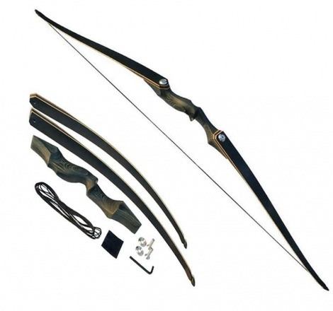 Black hunter longbow