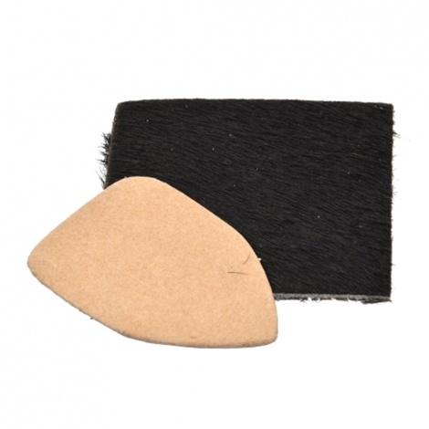 Bearpaw calf hair rest